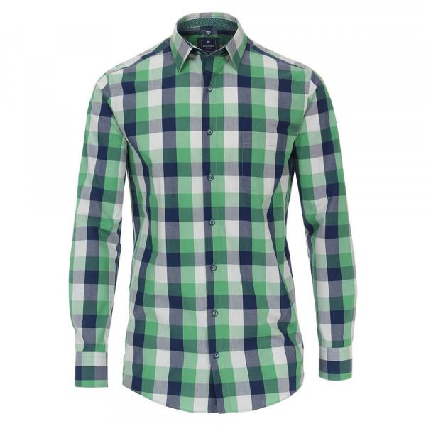 Redmond Hemd REGULAR FIT UNI POPELINE grün mit Kent Kragen in klassischer Schnittform