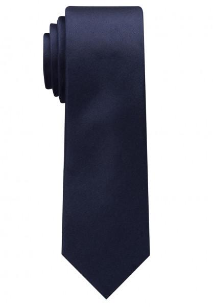 Eterna Krawatte dunkelblau unifarben