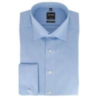 Olymp Luxor modern fit Hemd hellblau mit New Kent Kragen in moderner Schnittform