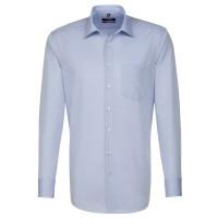 Seidensticker REGULAR Hemd CHAMBRAY hellblau mit Business Kent Kragen in moderner Schnittform