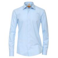 Redmond Hemd MODERN FIT UNI POPELINE hellblau mit Kent Kragen in moderner Schnittform