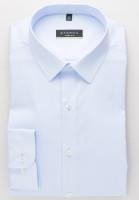 Eterna Hemd SUPER SLIM UNI STRETCH hellblau mit Mini Kent Kragen in super schmaler Schnittform