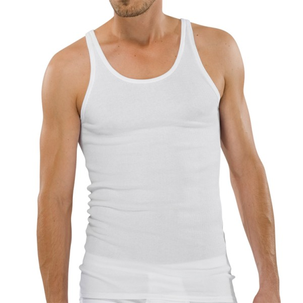 "Schiesser ""ORIGINAL DOPPELRIPP"" weißes Shirt"