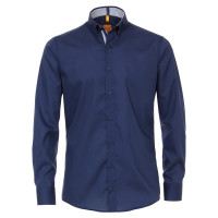 Redmond MODERN FIT Hemd UNI STRETCH dunkelblau mit Button Down Kragen in moderner Schnittform