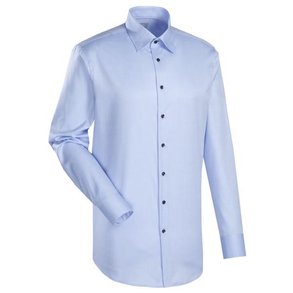 Jacques Britt SLIM FIT Hemd TWILL hellblau mit Kent Kragen in schmaler Schnittform