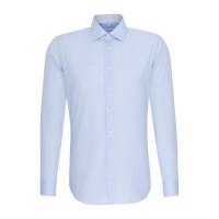 Seidensticker Hemd SLIM FIT CHAMBRAY hellblau mit Business Kent Kragen in schmaler Schnittform