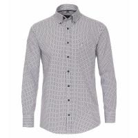 CASAMODA Hemd COMFORT FIT UNI POPELINE dunkelblau mit Button Down Kragen in klassischer Schnittform