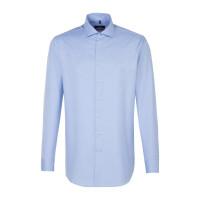 Seidensticker Hemd REGULAR TWILL hellblau mit Spread Kent Kragen in moderner Schnittform