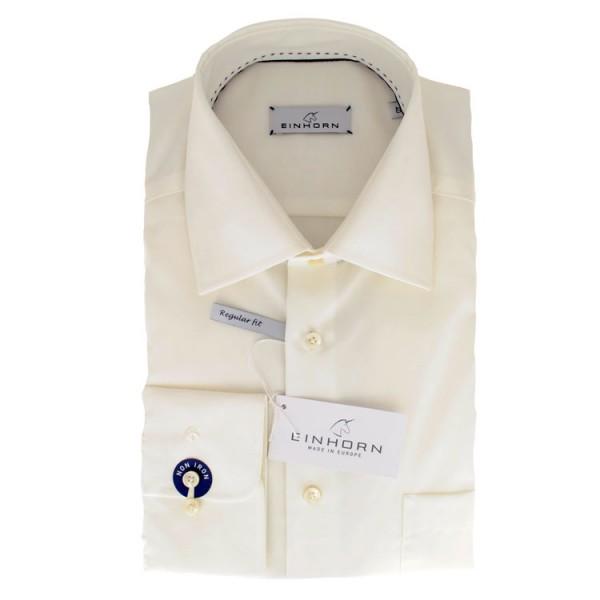 """Einhorn Hemd """"Derby"""" beige mit Kent Kragen in klassischer Schnittform"""