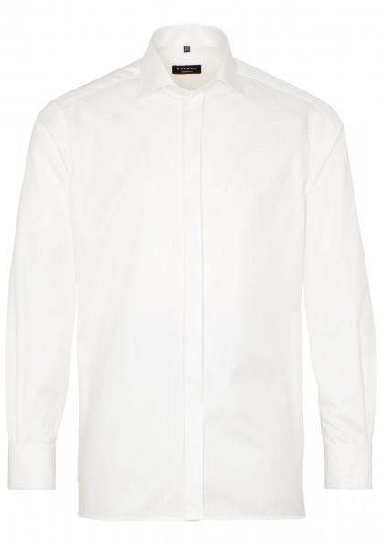 Eterna Hemd MODERN FIT TWILL beige mit Classic Kent Kragen in moderner Schnittform