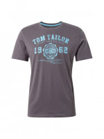 Tom Tailor T-Shirt anthrazit in klassischer Schnittform