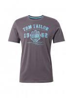 Tom Tailor T-Shirt anthrazit in klassischer Schnittform