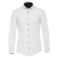 Redmond SLIM FIT Hemd PRINT weiss mit Kent Kragen in schmaler Schnittform