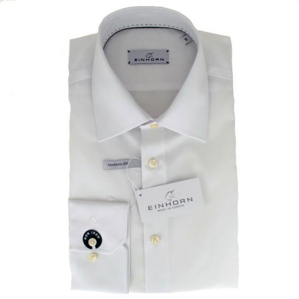 """Einhorn Hemd """"Jamie Slim"""" weiß mit Kent Kragen in moderner Schnitform"""