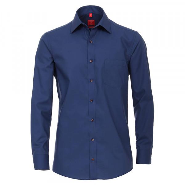 Redmond COMFORT FIT Hemd UNI POPELINE dunkelblau mit Kent Kragen in klassischer Schnittform