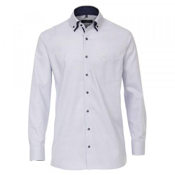 CASAMODA Hemd COMFORT FIT STRUKTUR hellblau mit Button Down Kragen in klassischer Schnittform