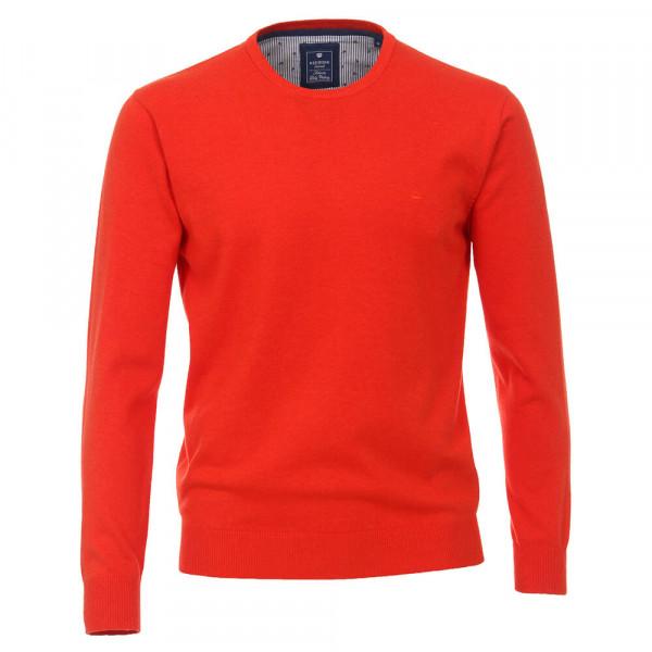 Redmond Pullover rot in klassischer Schnittform