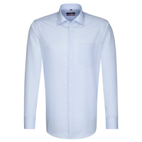 Seidensticker REGULAR Hemd STRUKTUR hellblau mit Business Kent Kragen in moderner Schnittform