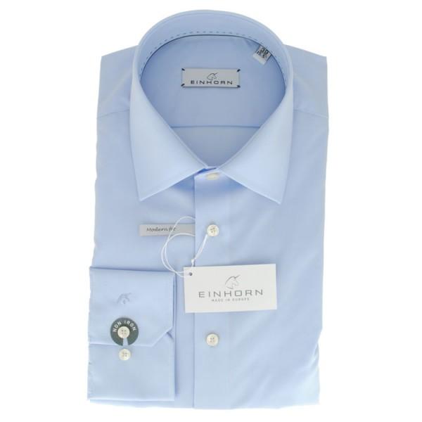 """Einhorn Hemd """"Jamie Slim"""" hellblau mit Kent Kragen in moderner Schnitform"""