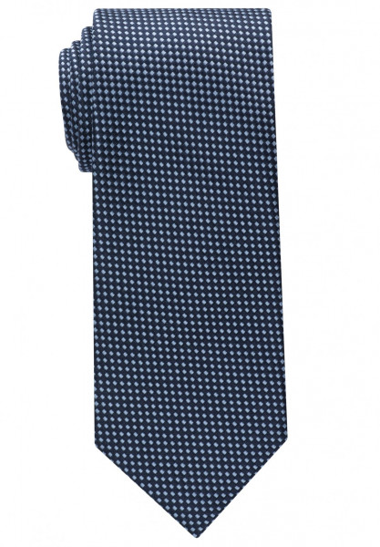 Eterna Krawatte mittelblau strukturiert