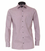 CASAMODA Hemd COMFORT FIT STRUKTUR dunkelrot mit Kent Kragen in klassischer Schnittform