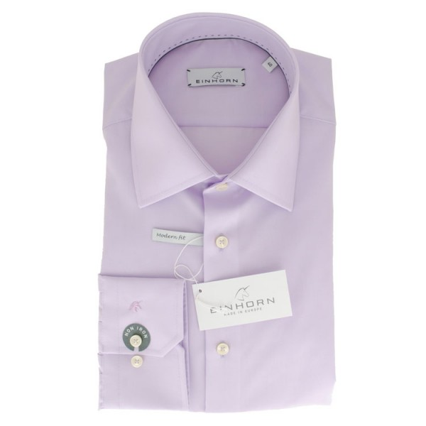"""Einhorn Hemd """"Jamie Slim"""" flieder mit Kent Kragen in moderner Schnitform"""