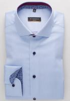 Eterna Hemd SLIM FIT NATTÉ hellblau mit Hai Kragen in schmaler Schnittform