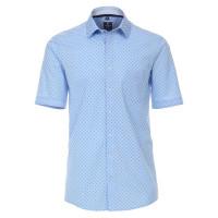 Redmond COMFORT FIT Hemd PRINT hellblau mit Kent Kragen in klassischer Schnittform