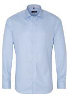 Eterna Hemd SLIM FIT STRUKTUR hellblau mit Classic Kent Kragen in schmaler Schnittform