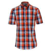 Redmond Hemd REGULAR FIT UNI POPELINE orange mit Kent Kragen in klassischer Schnittform