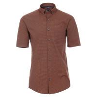 Redmond Hemd REGULAR FIT UNI POPELINE orange mit Button Down Kragen in klassischer Schnittform