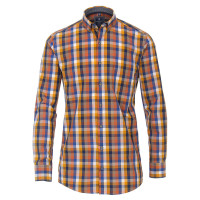 Redmond COMFORT FIT Hemd PRINT orange mit Button Down Kragen in klassischer Schnittform