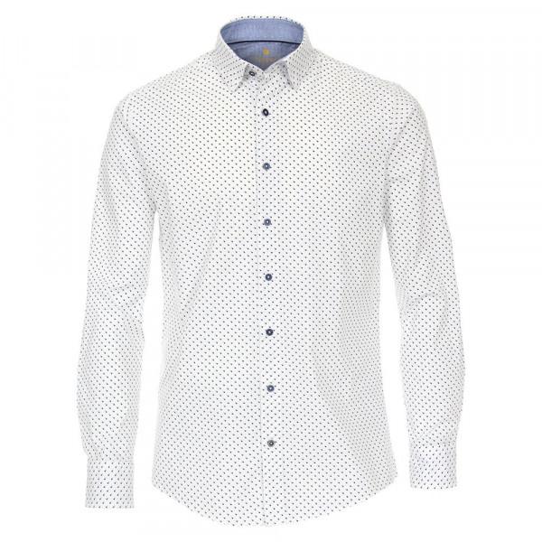 Redmond Hemd MODERN FIT UNI POPELINE hellblau mit Button Down Kragen in moderner Schnittform