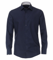 Venti Hemd MODERN FIT UNI POPELINE dunkelblau mit Kent Kragen in moderner Schnittform