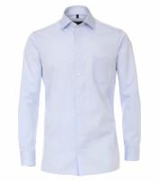 CASAMODA Hemd COMFORT FIT TWILL hellblau mit Kent Kragen in klassischer Schnittform