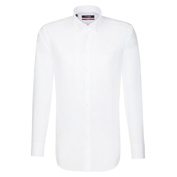Seidensticker REGULAR Hemd UNI POPELINE weiss mit Button Down Kragen in moderner Schnittform