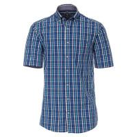 Redmond COMFORT FIT Hemd UNI POPELINE dunkelblau mit Button Down Kragen in klassischer Schnittform