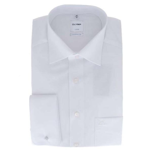 Olymp Luxor comfort fit Hemd weiß mit New Kent Kragen in klassischer Schnittform