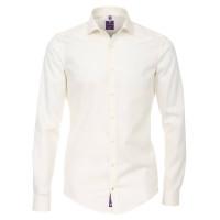 Redmond SLIM FIT Hemd UNI STRETCH beige mit Kent Kragen in schmaler Schnittform