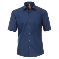 Redmond MODERN FIT Hemd UNI POPELINE dunkelblau mit Kent Kragen in moderner Schnittform