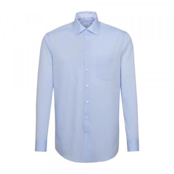 Seidensticker Hemd REGULAR CHAMBRAY hellblau mit Business Kent Kragen in moderner Schnittform