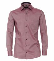 CASAMODA Hemd MODERN FIT STRUKTUR rot mit Kent Kragen in moderner Schnittform