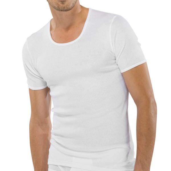 "Schiesser ""ORIGINAL DOPPELRIPP"" weißes T-Shirt"
