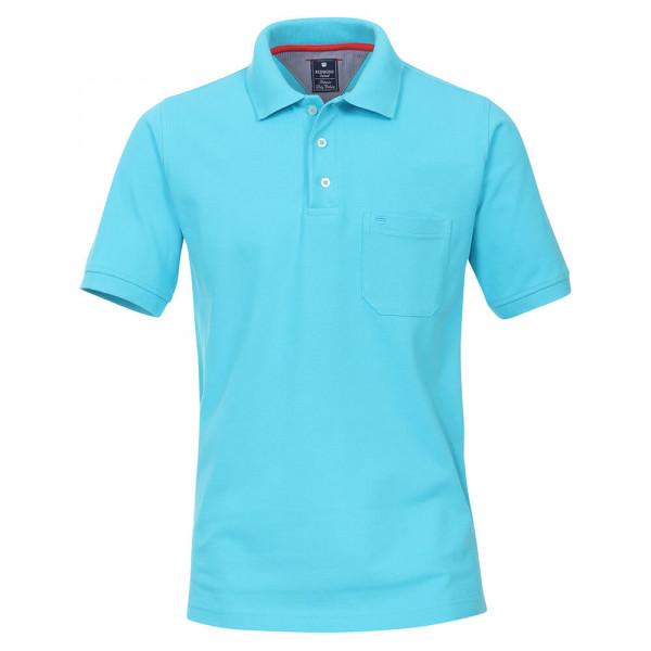 Redmond Poloshirt hellblau in klassischer Schnittform