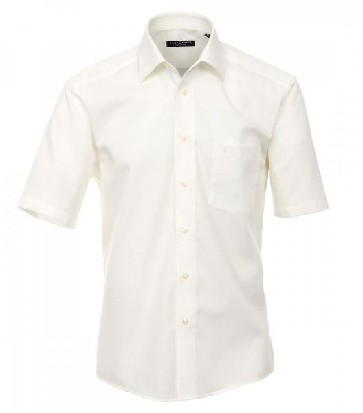 CASAMODA Hemd COMFORT FIT UNI POPELINE beige mit Kent Kragen in klassischer Schnittform
