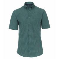 Redmond Hemd REGULAR FIT UNI POPELINE grün mit Button Down Kragen in klassischer Schnittform