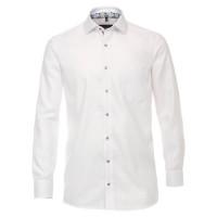 CASAMODA Hemd COMFORT FIT STRUKTUR weiss mit Kent Kragen in klassischer Schnittform