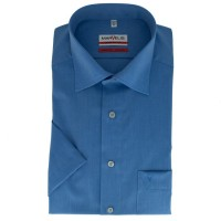 Marvelis MODERN FIT Hemd CHAMBRAY mittelblau mit New Kent Kragen in moderner Schnittform