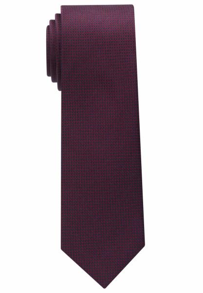 Eterna Krawatte dunkelrot strukturiert