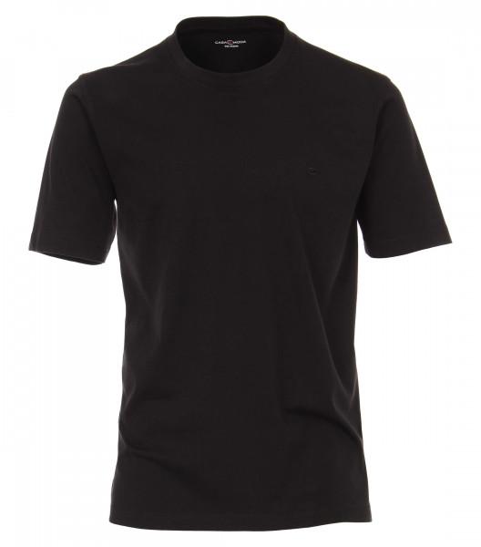 CASAMODA T-Shirt schwarz in klassischer Schnittform